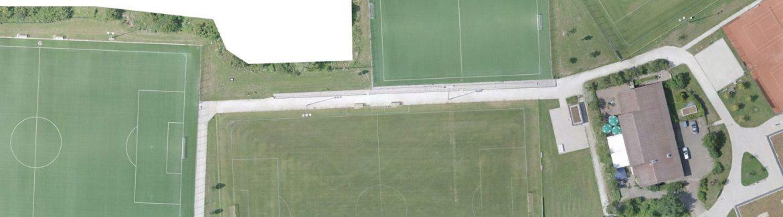 Drohnenflug über das Gelände